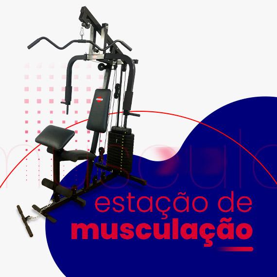 Estação de musculação com 100kg